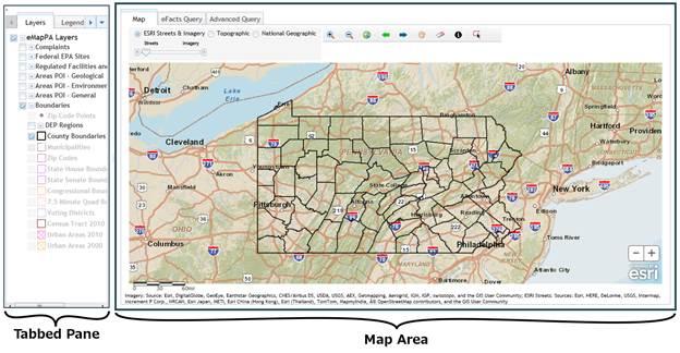 map area map area